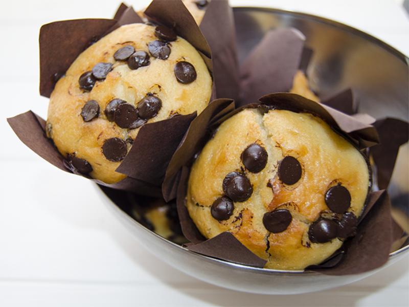 Muffins de vainilla y chocolate - Fabrica de Antojos - FDA