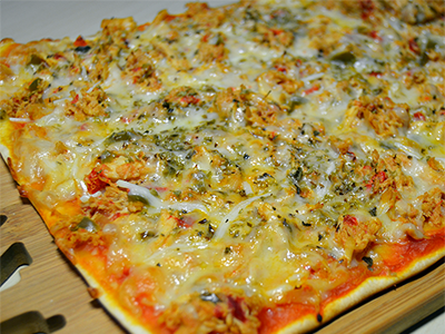 Pizza pulled chicken - Fabrica de Antojos - FDA