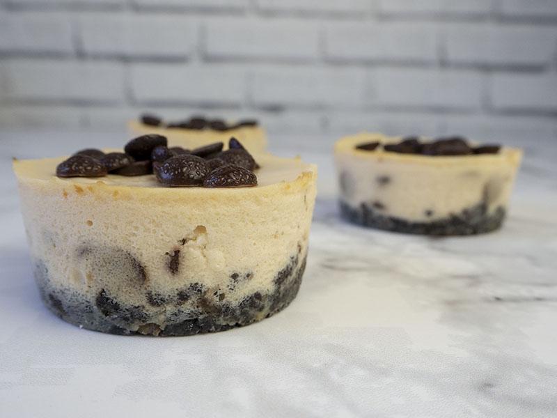 Mini Cheesecake con chocolate