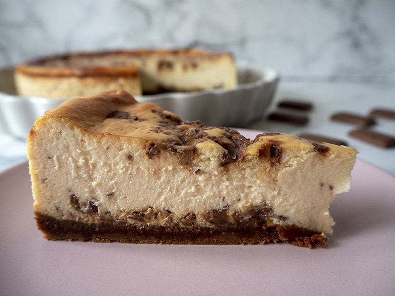 Cheesecake de caramelo y chocolate