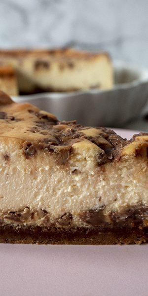 Cheesecake de caramelo y chocolate
